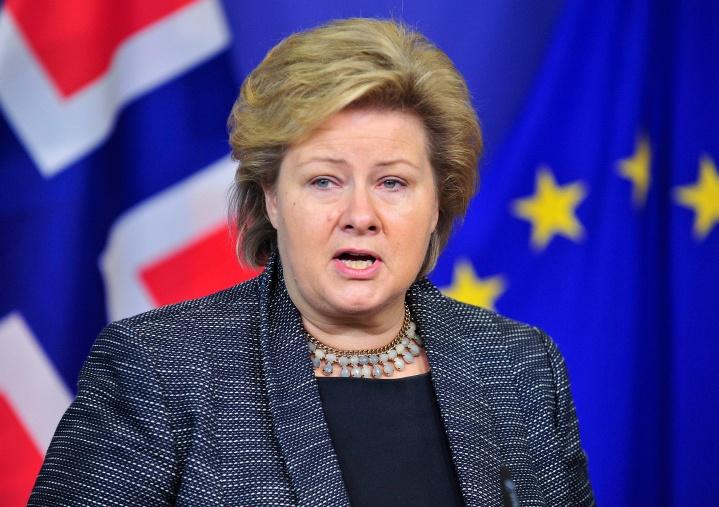 BELGIUM-EU-NORWAY-PM-SOLBERG-VISIT