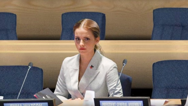 Emma Watson during a UN session. Source: Elle UK