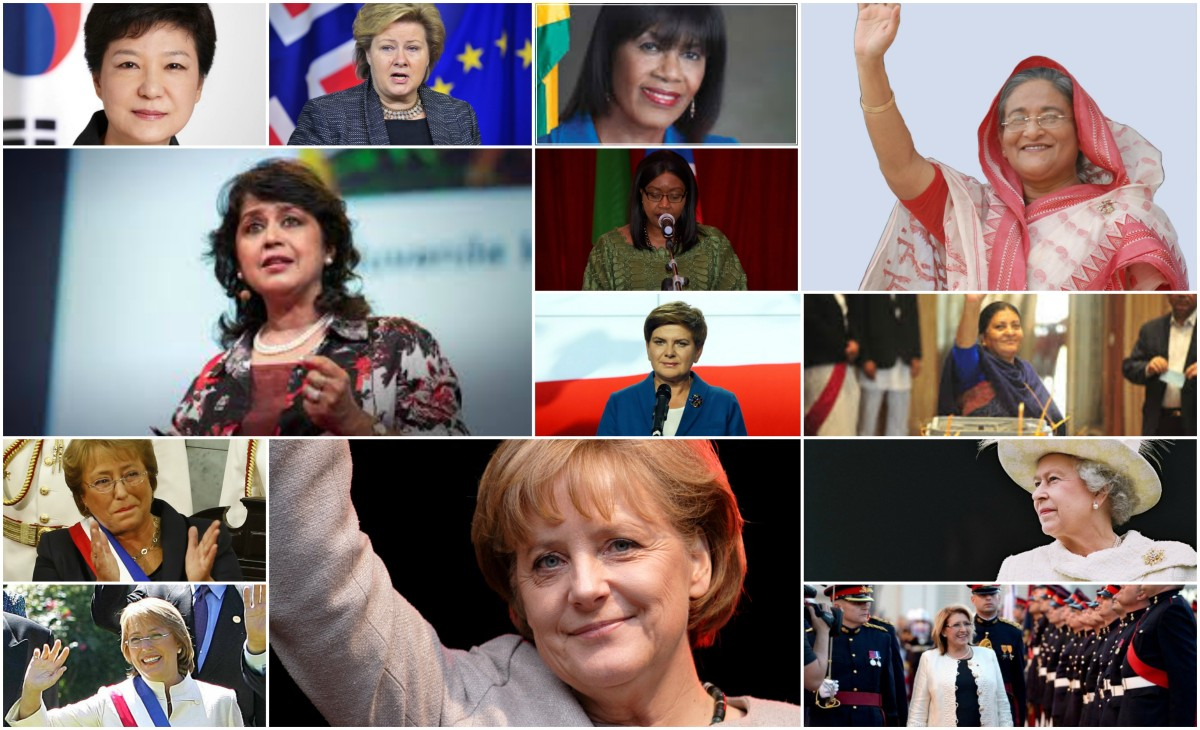 2016, women and political leadership - female heads of state and heads of government