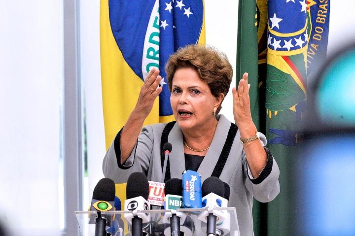 A presidente da República Dilma Rousseff concede entrevista coletiva no Palácio do Planalto.Foto: Jonas Pereira/Agência Senado
