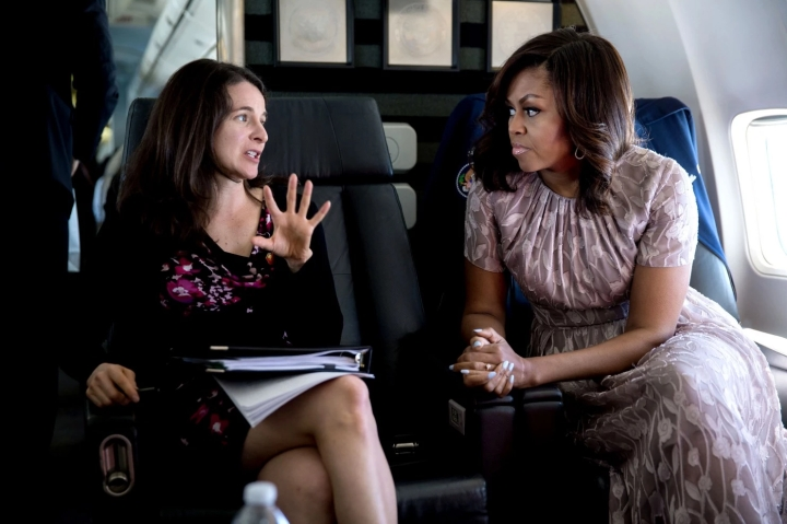 Michelle Obama and Sarah Wur picture White House
