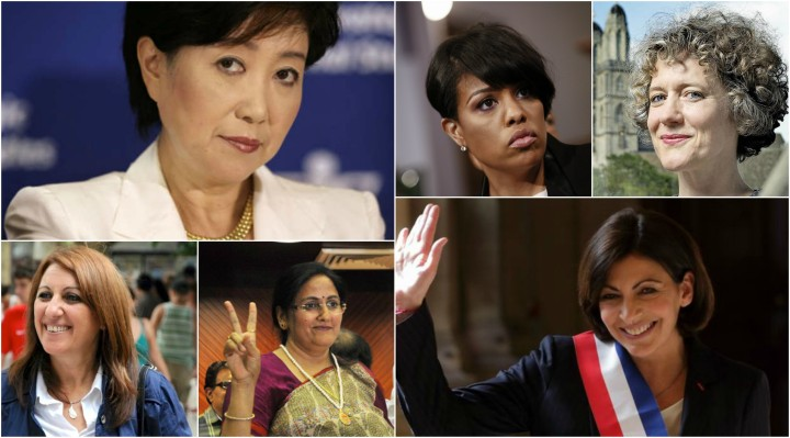 Collage women mayors