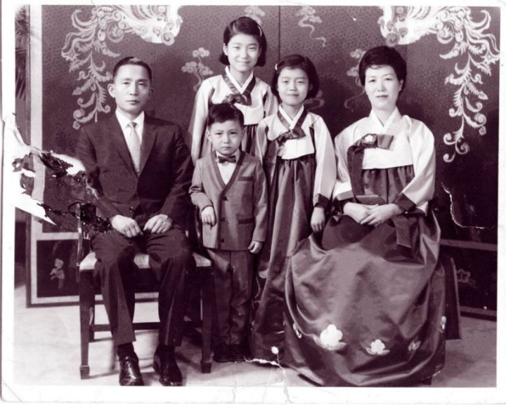 Park Geun-hye with her family